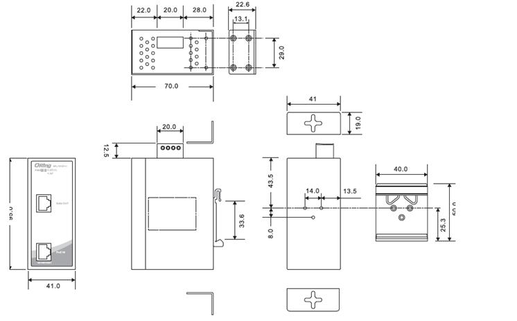 spl-101gt   - 工业级1口千兆poe分离器 - 产品
